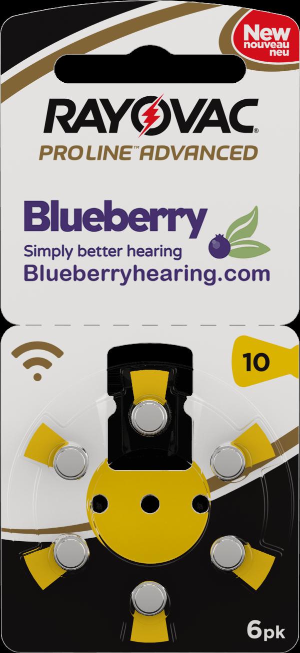 Rayovac Blueberry Hearing Aid Battery Size Yellow 10