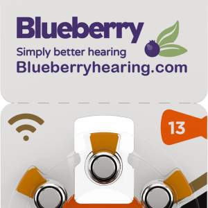 Rayovac Blueberry Hearing Aid Battery Size Orange 13