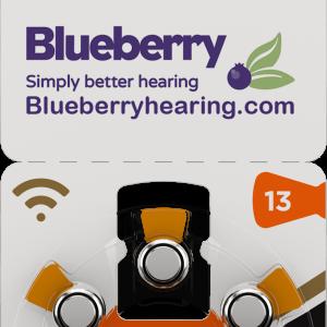 Rayovac Blueberry Hearing Aid Battery Size Orange 13