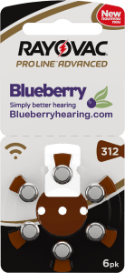Rayovac Blueberry Hearing Aid Battery Size 312 Brown